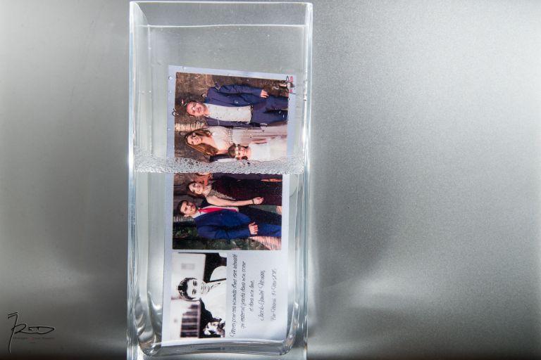 Magnet mariage métal carte de remerciements