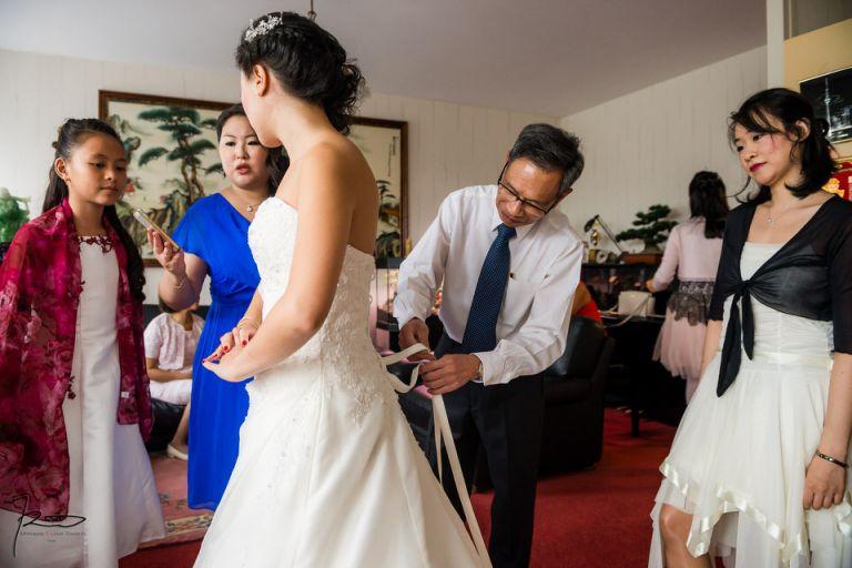photo de mariage chinois hôtel Westin Paris
